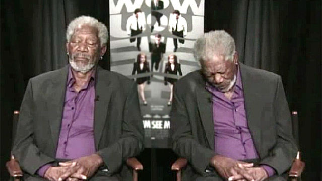 News video: Morgan Freeman Takes A Snooze... Mid-Interview?
