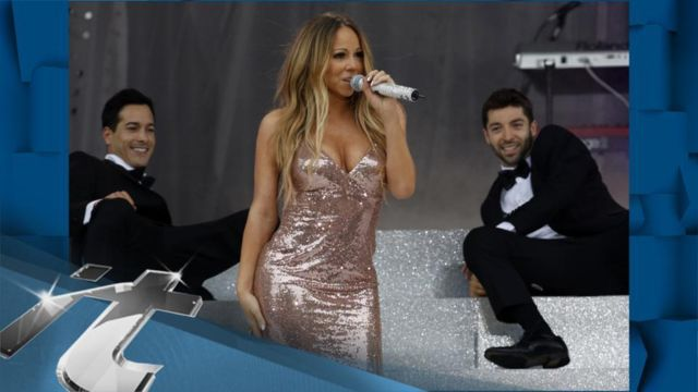 News video: Mariah Carey News Pop: Mariah Carey Suffers Wardrobe Malfunction on Live TV