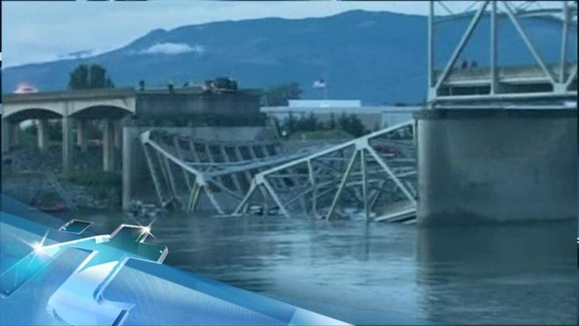 News video: Breaking News Headlines: Driver Survives I-5 Bridge Collapse Into Washington River